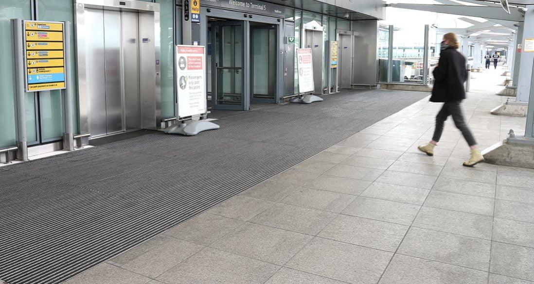 Heathrow T5 entrance matting
