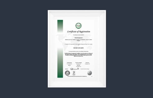 ISO45001 Certificate