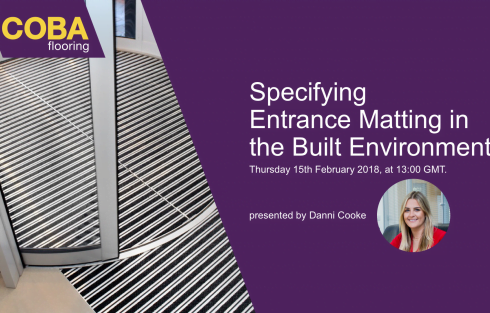 CPD specifying entrance matting