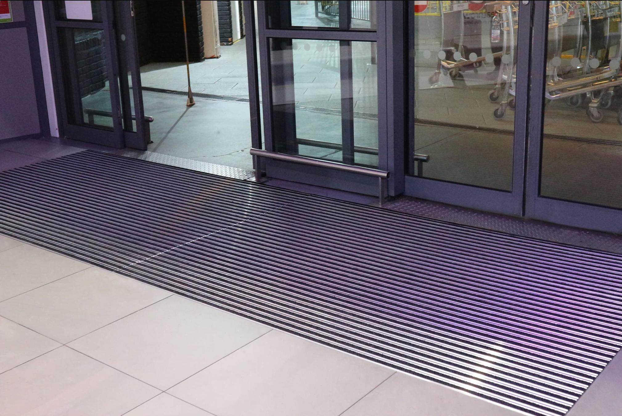 bus station entrance matting
