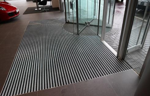 car showroom entrance matting