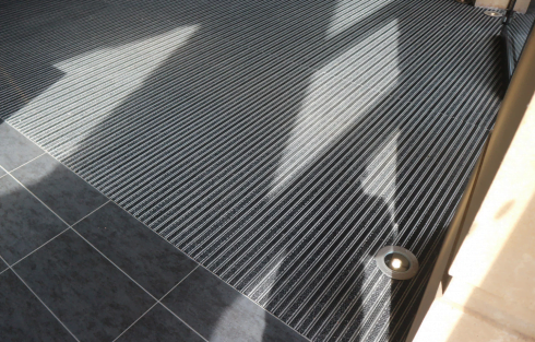 entrance matting close up
