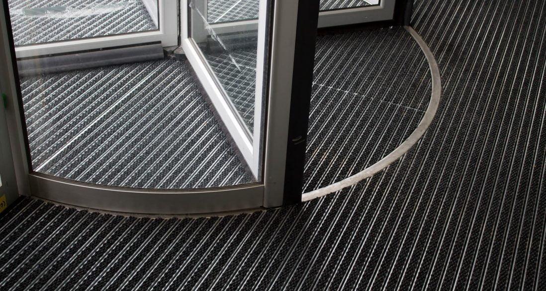 entrance matting revolving door