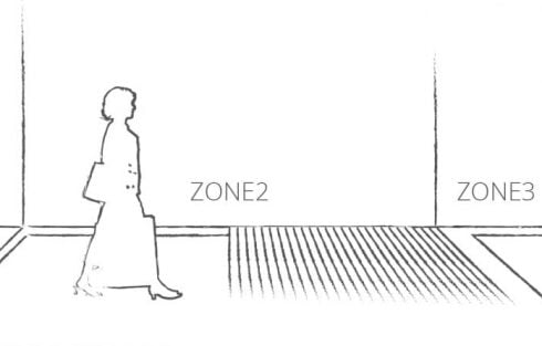 entrance matting zones