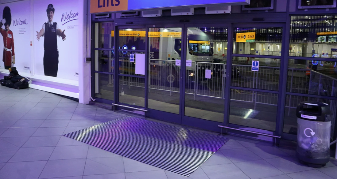 heathrow bus station entrance-matting