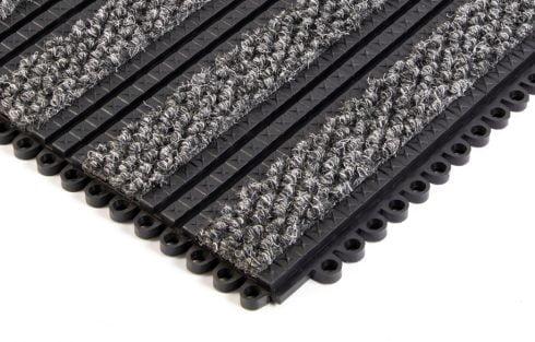 premier plus grey entrance matting tile